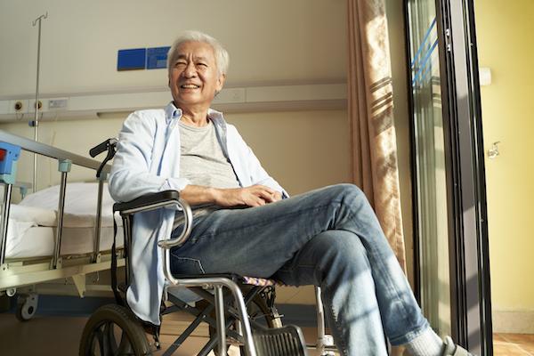 asian man at nusing home