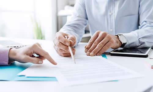 Health Insurance Agent Explaining Group Insurance Plan Options