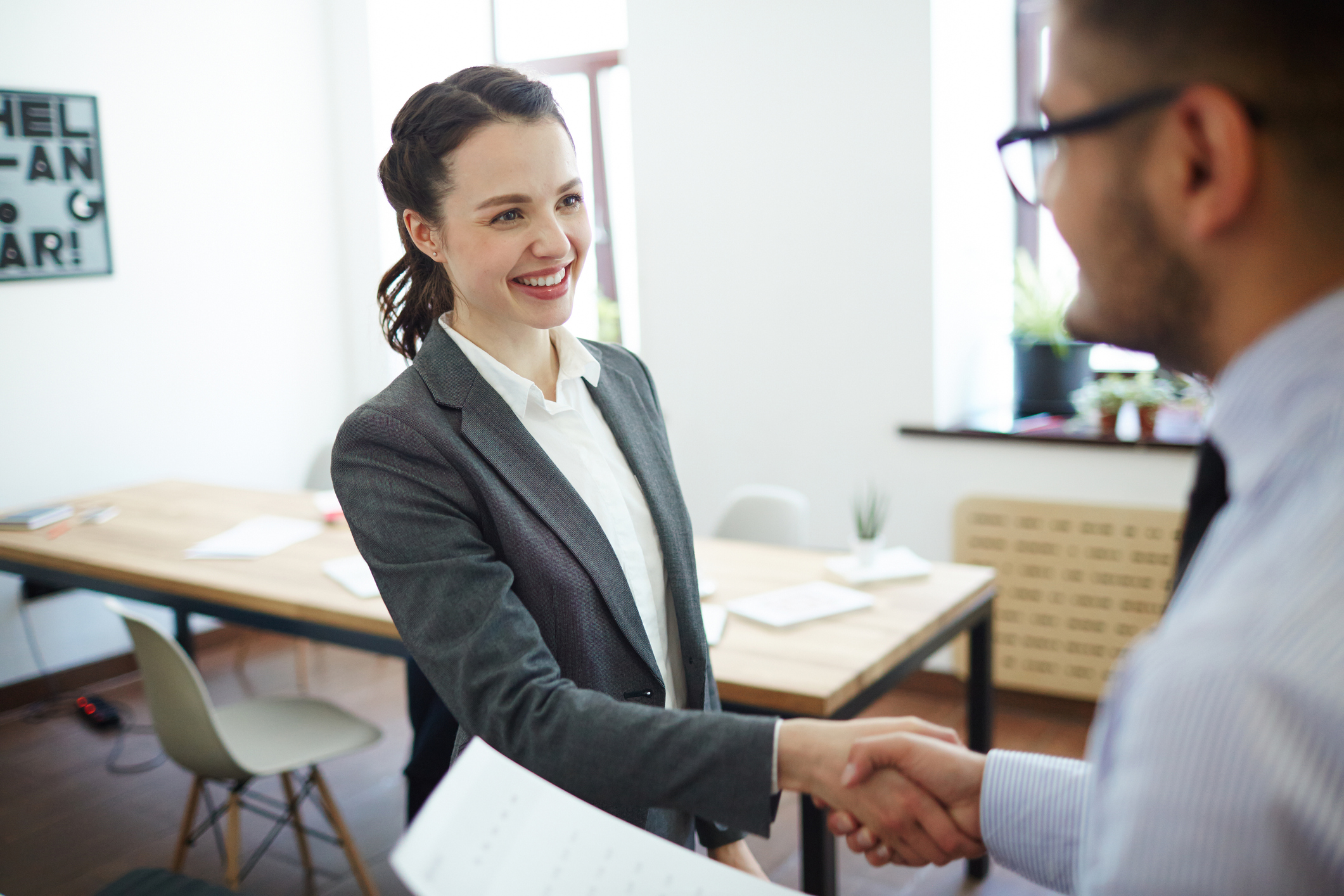 Female Employee Accepting Job Offer