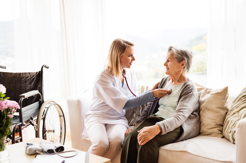 home health care visit