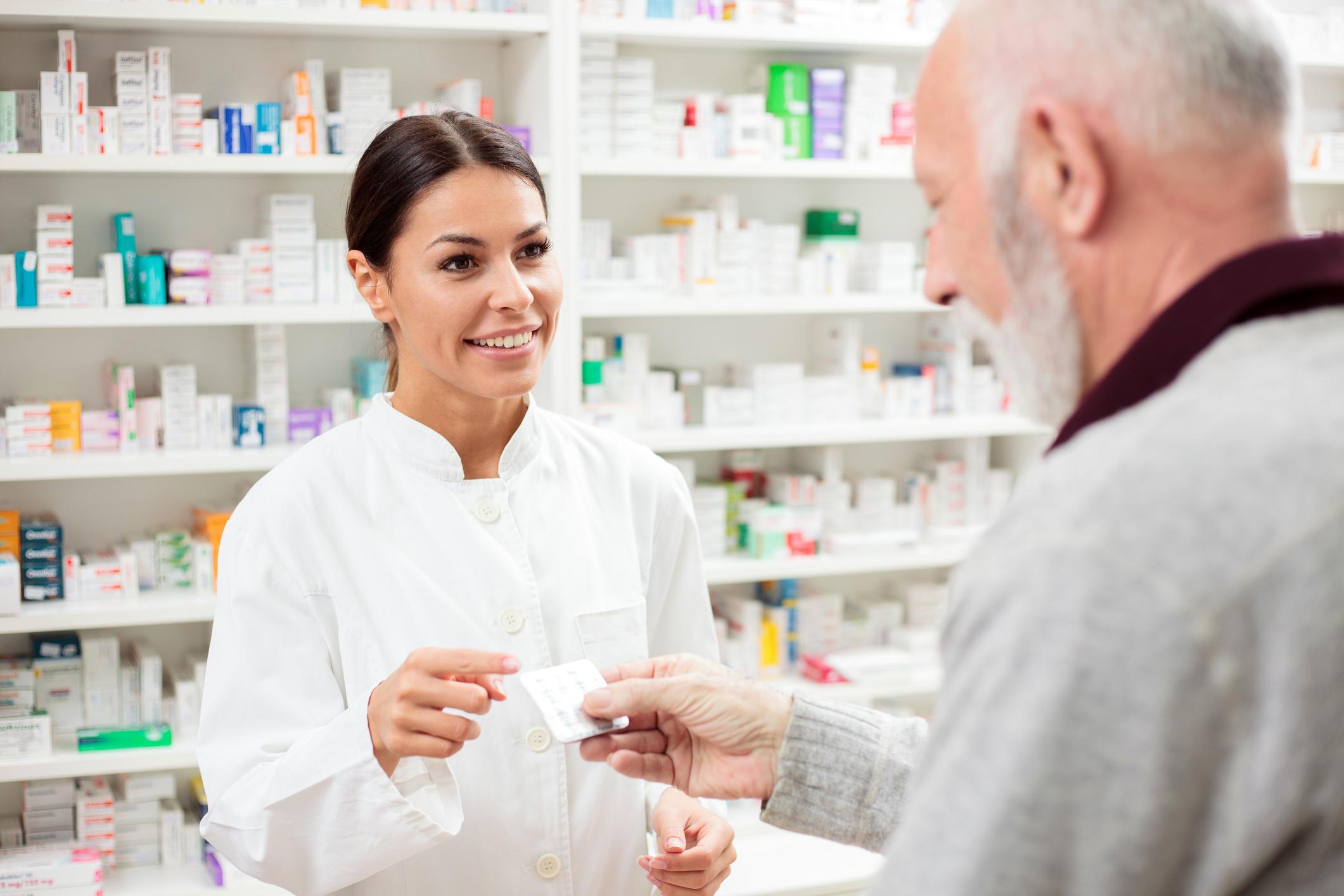 Senior Patient with Pharmacist
